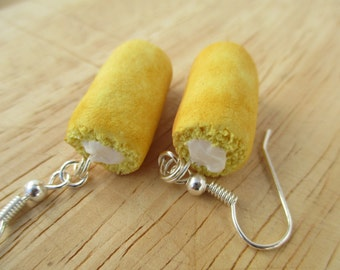 Twinkies Earrings, Handmade Polymer Clay, Kawaii