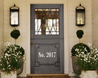 "Front Door ""House Number"" Decal"