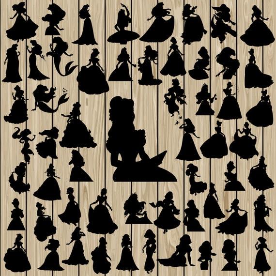 57 disney princess svg disney princess silhouette clipart ariel svg aurora svg belle svg cinderella svg jasmine svg snow white svg from