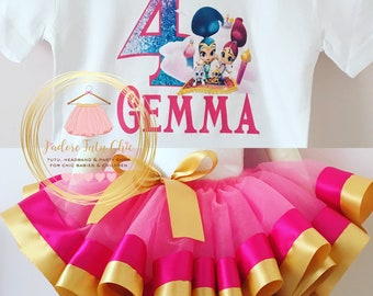 Shimmer and shine birthday outfit - shimmer and shine birthday tutu set - shimmer and shine birthday theme - shimmer and shine birthday