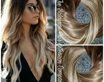 Hair Extensions Balayage Remy Clip In 180 Grams