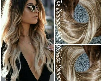 Hair Extensions, Balayage Remy, Extensions, Clip-In Extensions, 120 Grams, 9a grade
