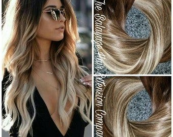 Balayage etsy hair extensions balayage remy extensions clip in extensions 120 grams pmusecretfo Gallery