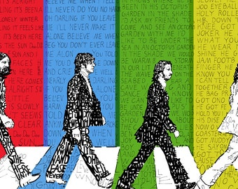 The beatles wall decal – Etsy