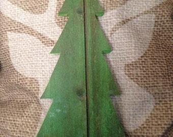 Reclaimed Barn Board Christmas Tree.