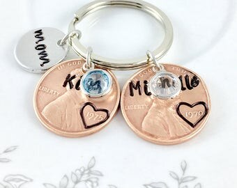 Mom from daughter, Mom gifts, Mom birthday, May birthstone, June birthstone, Kids names jewelry, Personalized mom gifts