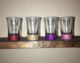 Glitter Dipped shot glasses