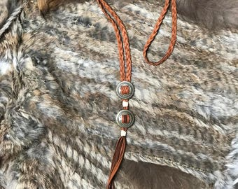 Braided Concho Necklace