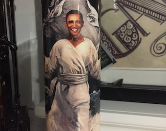St Barack Obama Prayer Candle