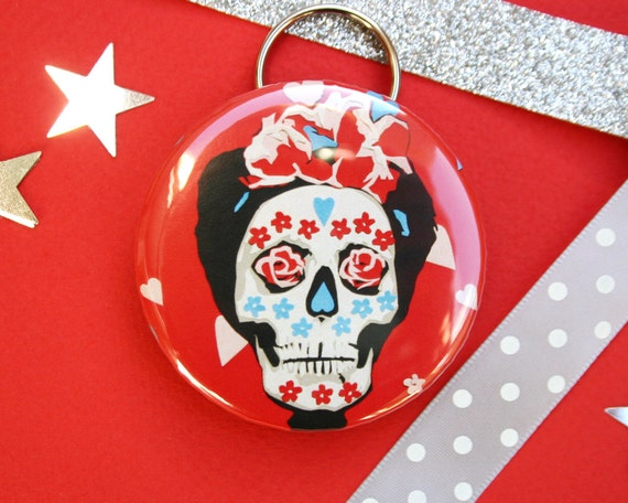 Sugar Skull Bottle Opener Day of the Dead Keyring Mexican