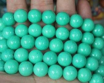 Mountain Jade Beads,4mm 6mm 8mm 10mm 12mm Smooth and Round Beads,16 inch per strand