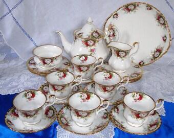 Immaculate ROYAL ALBERT CELEBRATION Tea Set Celebration Rose Unused