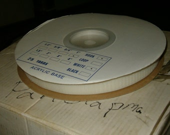 "HOOK ONLY 1"" white adhesive tape hook and loop tape"