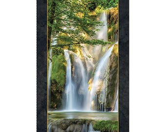 Quilting Treasures - Artworks  - Le Cascade Panel - 1649-24922-X - © Lars van der Goor - Waterfall - Forest - Outdoors - Digital Print