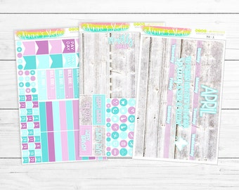 SALE! 40% OFF! April Monthly Overview (for the Erin Condren Life Planner) | 141 Planner Stickers