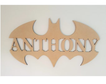 Batman Kids Letters Wall Hanging Sign
