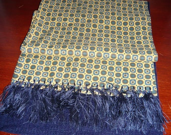 1960's Tootal Grosvenor Yellow and Blue Paisley Scalf