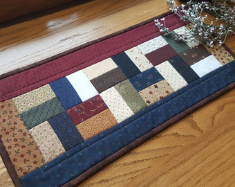 Quilted Table Runner / Table Topper / Primitive Table Runner/ Handmade