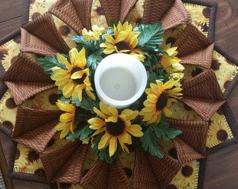 Fabric Wreath for table