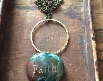 Faith Stone Necklace #34