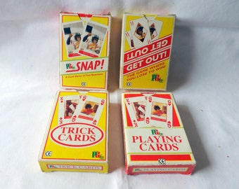 Vintage playing cards PG Tips Chimps  games from 1995. Snap, Get out, Trick cards and Playing cards