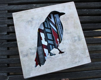 Crow Reclaimed Hockey Stick Shadow Box