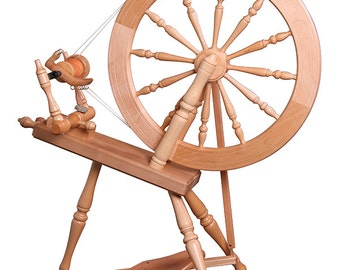 Ashford Elizabeth-2 Spinning Wheel - Double Drive / Clear Finish - FREE Shipping