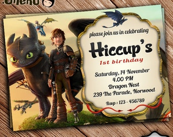 SALE 50% OFF How to Train Your Dragon Birthday Invitation - Printable - Birthday Invitation for Boy - Celebrate - Dragon Invite -