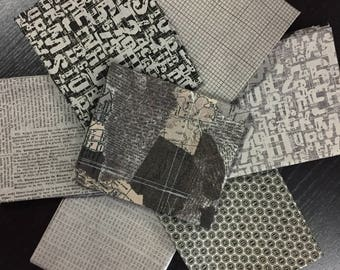 Compositions - BasicGrey - Moda Fabrics - 7 Fat Quarters in Stone Colorway