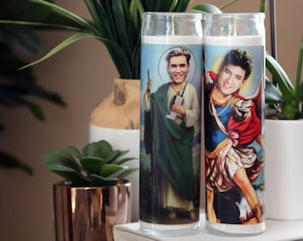 Saved by the Bell Zack Morris AC Slater Celebrity Prayer Candles