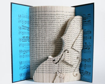 Book Folding Pattern Violin: Book Folding Tutorial, Cut and Fold, Free printable downloads to personalise your book art