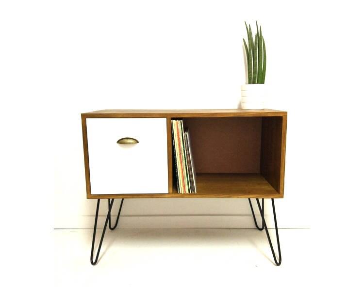 vinyl record storage console table mid century modern table mid century cabinet sideboard vinyl storage coffee table media console