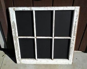 Chalkboard Antique Window