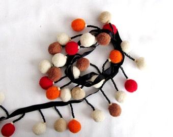 Puffball Trim Ribbon  Wood beaded Trim Ribbon Glass bead Trim Ribbon sew on Ribbon Trim  Costume accessory Kids Clothes