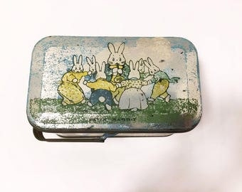 Peter Rabbit Metal Tin Basket