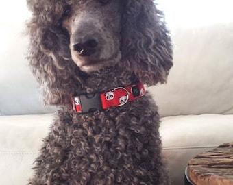 Bentley's favorite ,dog collar, dog ,panda ,red ,cotton collar ,pets accessories ,Designer dog collar,collar,adjustable collar,fier-pet