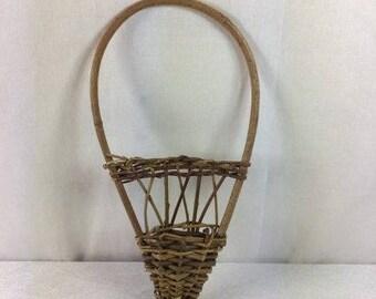 Wicker Flower Basket Wicker Flower Girl Basket Wicker Wall Basket