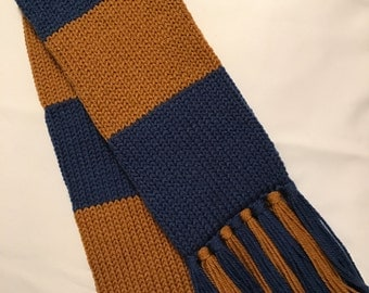 Ravenclaw scarf, Harry Potter scarf, Adult Ravenclaw house scarf, Adult Harry Potter scarf, Adult Ravenclaw scarf, Harry Potter House scarf