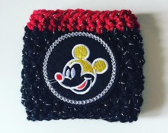 Mickey Mouse Cup Cozy - Crochet Cup Cozy - Cup Hug - Cup Sleeve