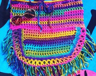 SALE ~ Crochet Women's Skirt, Swimsuit Cover Up, Bikini Beach Cover Up, Fringe, Gypsy, Skirt, Crochet Cover Up, Crochet Skirt