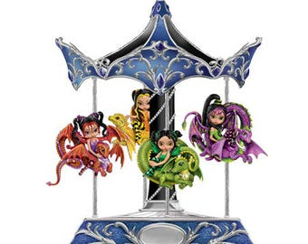 Enchanted Dreams Carousel Dragonling Fairies By Jasmine Becket Griffith - Bradford Exchange