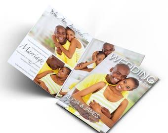 Wedding Magazine Invitations/ Photo invitations