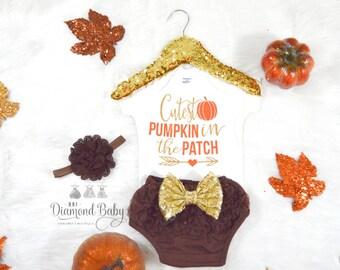 Cutest Little Pumpkin in The Patch Onesie-Thanksgiving Onesie-Pumpkin Patch Onesie-Cutest Pumpkin Onesie
