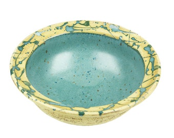 Cereal Bowl Green speckled