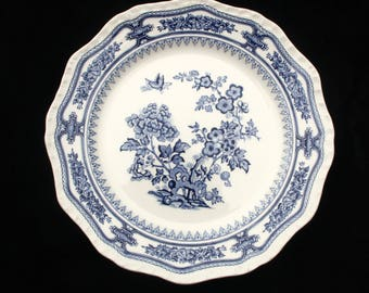 Masons Ironstone Blue and White Manchu Dinner or Display plate 10.75""