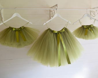 Tutu, flower girl dress, green tutu, flower girl tutu, ballet tutu, tutu skirt, baby tutu, tulle skirt, tulle tutu, flower girl dress