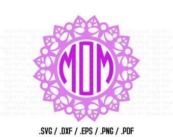 Mandala Circle Design Files, Use With Silhouette Software, DXF Files, SVG Font, EPS File, Svg Font, Silhouette Cameo, Cricut Design - CA411