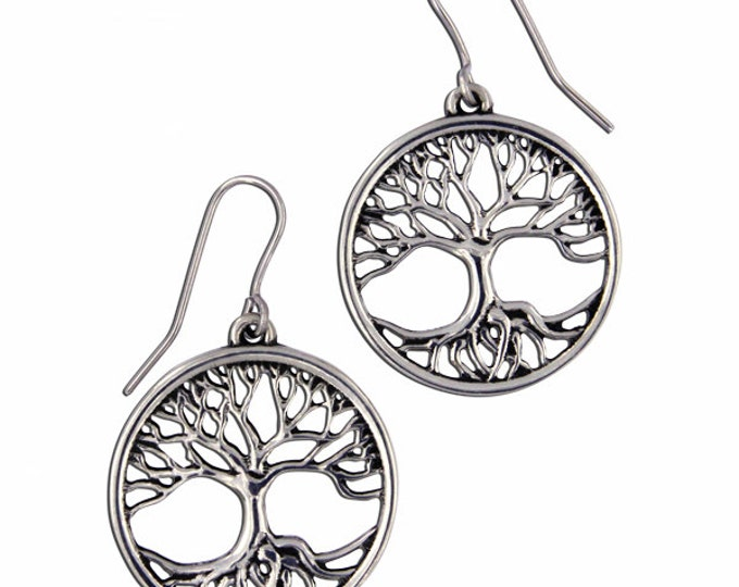 Tree of life Drop Earrings Small - Ideal Gift For Mom -Her-Birthday-Anniversary or Just For You