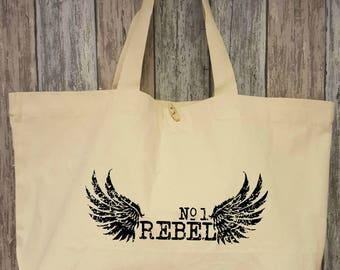 Nr. 1 rebel, cotton bag XL natural