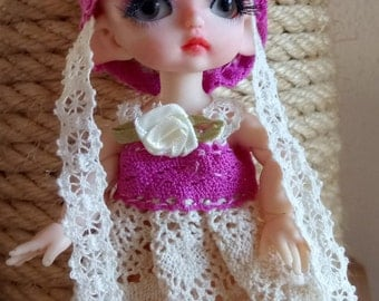 1/8 BJD Doll Clothingset with elfhat
